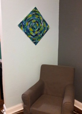 bluegreenpaintingchair